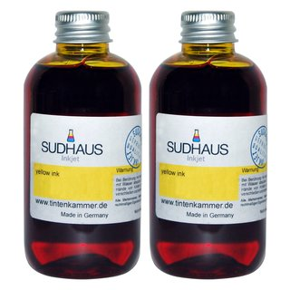 Sudhaus Tinte yellow (gelb) Canon CL-511 CL-513Y CL-511 CL-513Y XL - 1 Liter